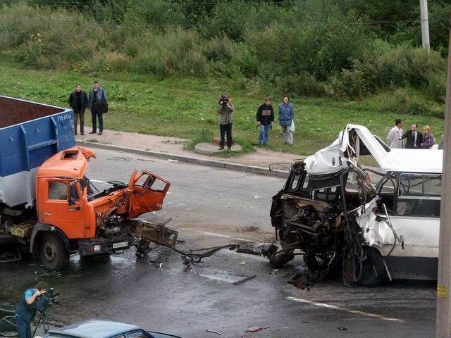 фотографии с аварии автобуса